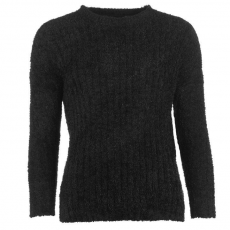 Lee Cooper Női kerek nyakú kötött pulóver fekete S
