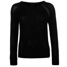Golddigga Shoulder női cipzáras kötött pulóver fekete XXL