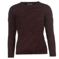 Lee Cooper Női kerek nyakú kötött pulóver bordó M