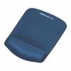 FELLOWES Egéralátét csuklótámasszal, habtöltésű, FELLOWES PlushTouch™, kék (IFW92873)