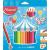 MAPED Színes ceruza készlet, háromszögletű, vastag, MAPED Jumbo, 18 különböző szín (IMA834012)