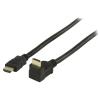 Valueline Nagy Sebességű Hdmi Kábel Ethernettel HDMI Csatlakozó - HDMI Csatlakozó 90°-os Szög 1.00 m Fekete Valueline vgvp34200b10