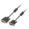 Valueline DVI Kábel DVI-A 12 + 5-Pólusú Dugó - VGA Dugó 2.00 m Fekete Valueline vlcp32100b20