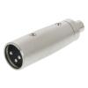 Valueline XLR-Adapter XLR 3-Pólusú Dugó - RCA Aljzat Ezüst Valueline xlr-3mrcaf