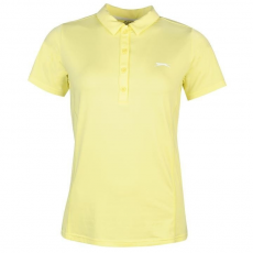 Slazenger női ingpóló - sárga - Slazenger Plain Golf Polo Shirt Ladies