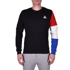 Le Coq Sportif Tri Sp Bbr Cotontech Crew Sweat férfi kapucnis pulóver fekete S