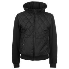 Pierre Cardin Quilt férfi kapucnis cipzáras pulóver fekete L