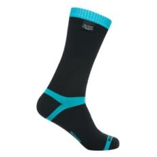 DexShell COOLVENT zokni - Fekete / Világoskék - XL