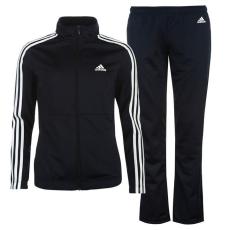 Adidas Back női melegítőszett - adidas Back 2 Basics 3 Stripes Tracksuit - sötétkék/fehér