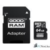 Goodram 64GB SD micro (SDXC Class 10 UHS-I) (M1AA-0640R11) memória kártya adapterrel