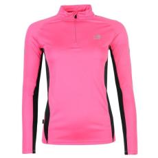 Karrimor női futó póló - Karrimor Quarter Zip Running Top - pink