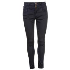 Full Circle női farmer - Full Circle 3 Button High Waisted Jeans - sötétkék