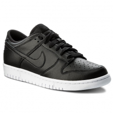 Nike Cipő NIKE - Dunk Low 904234 003 Black/Black/White