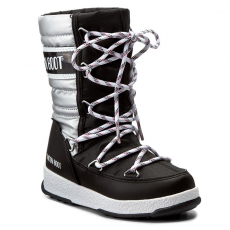 Moon Boot Hótaposó MOON BOOT - We Quilted Jr Met Wp 34051400002 Nero-Argento