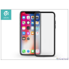 Devia Apple iPhone X hátlap - Devia Nobility - black/transparent