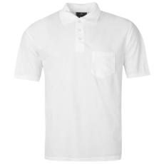 Donnay férfi galléros póló, Fehér - Donnay Pocket Polo Shirt Mens