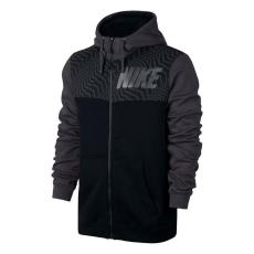 Nike Graphic FZ férfi kapucnis cipzáras pulóver fekete M