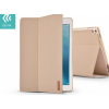 tok-shop.hu Apple iPad Pro 12.9 (2017), Smart Case, textil bevonat, Devia Flax Flip, arany