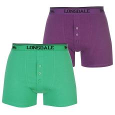Lonsdale férfi boxernadrág 2db/csomag, Lila/Zöld - Lonsdale 2 Pack Boxers Mens