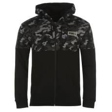 Puma Rebel AOP férfi kapucnis cipzáras pulóver fekete S