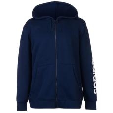 Adidas Linear Logo férfi kapucnis cipzáras pulóver fehér M