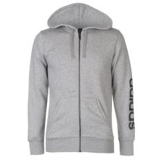 Adidas Linear Logo férfi kapucnis cipzáras pulóver fekete S
