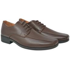 vidaXL Férfi fűzős business cipő barna 44-es méret PU bőr
