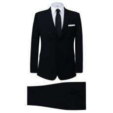 vidaXL két darabos férfi öltöny méret 48 fekete