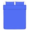 vidaXL 3 darabos pamut lepedő szett 240x220/60x70 cm kék