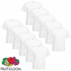 Fruit of the Loom 10 db Value Weight nagyméretű fehér póló 5XL