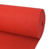 vidaXL 1x24 m Piros világos kiállítási szőnyeg
