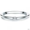 Tresor gyűrű Sterling ezüst Diamant Fehér gyűrű 56