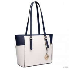 Gant Miss Lulu London LM1642-1 - Miss Lulu szintetikus bőr állítható fogantyú bevásárló táska táska bézs és Navy