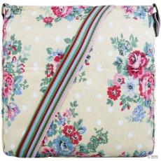 Miss Lulu London L1104F - Miss Lulu szögletes táska Flower Polka Dot