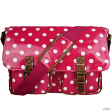 Miss Lulu London L1107D2 - Miss Lulu Oilcloth táska Polka Dot Plum