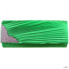 Miss Lulu London L1113 - Miss Lulu Ruched gyémánt estélyi Táska Clutch táska zöld