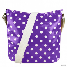 Miss Lulu London L1425D - Miss Lulu Oilcloth szögletes táska Polka Dot lila