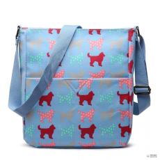 Miss Lulu London LC1645NDG - Miss Lulu kicsimattte Oilcloth szögletes táska Dog kék