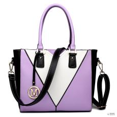 Miss Lulu London LG1641 - Miss Lulu V-alak válltáska kézi táska lila