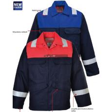 Portwest FR55 Antisztatikus kéttónusú kabát (Navy/royal kék)