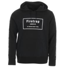 Firetrap Taped férfi kapucnis pulóver fekete L