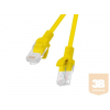 Lanberg Patchcord RJ45 cat. 6 UTP 0.25m yellow