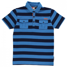 Lee Cooper YD Stripe galléros póló gyerek fiú