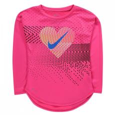 Nike Heart Geo LS póló gyerek lány