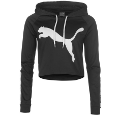 Puma női kapucnis pulóver - Puma Tape Crop Hoody - fekete