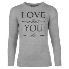 Golddigga Slogan női kötött pulóver szürke L