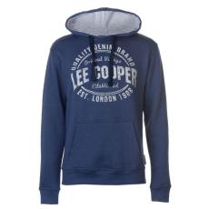 Lee Cooper Logo férfi pulóver kék M