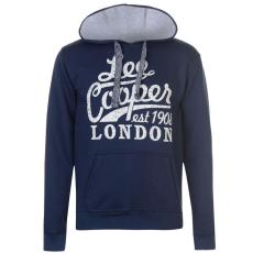 Lee Cooper Logo férfi pulóver tengerészkék S