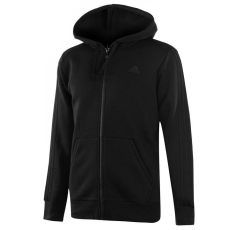 Adidas Essential 3 Stripe férfi kapucnis cipzáras pulóver fekete S