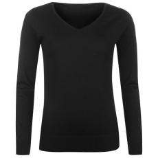 Lee Cooper Essential Soft női V nyakú pulóver fekete XL